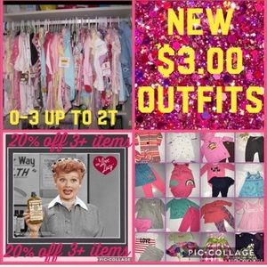 SALE $3.00 outfits size 0-2T